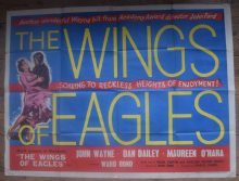 Wings of Eagles - John Wayne | UK Quad Movie Poster